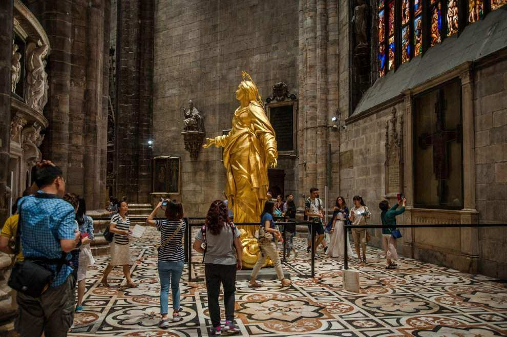 The copy of Madonnina come back in Milan: here you can discover the new collocation of 2016