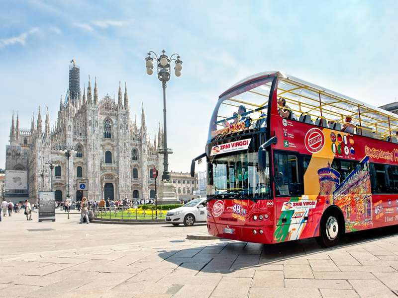 Sightseeing of Milan with Hop on Hop off tour onboard of an ...